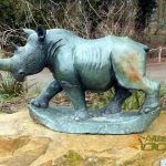 Shona-Art at Krefeld Zoo - 2016, Rhino by N. Rambo