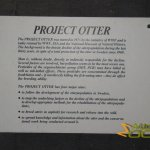 Stockholm Skansen Zoo, Information panel about the Otter project - otter conservation in Sweden