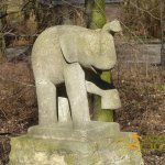 Berlin Tierpark, Elephant by Werner Richter - 1967