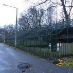 Tallinn Zoo, Row of aviaries for birds of prey