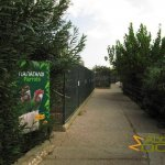 Athens Zoo, Endless row of psittacines aviaries