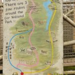 London Zoo, Guidance map for Land of the Lions