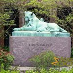 Prospect Park Zoo, Lioness and Cubs sculpture, inside the zoo