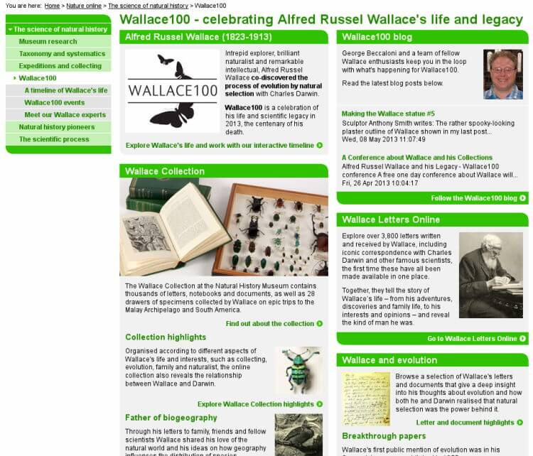 2013 – Alfred Russel Wallace year