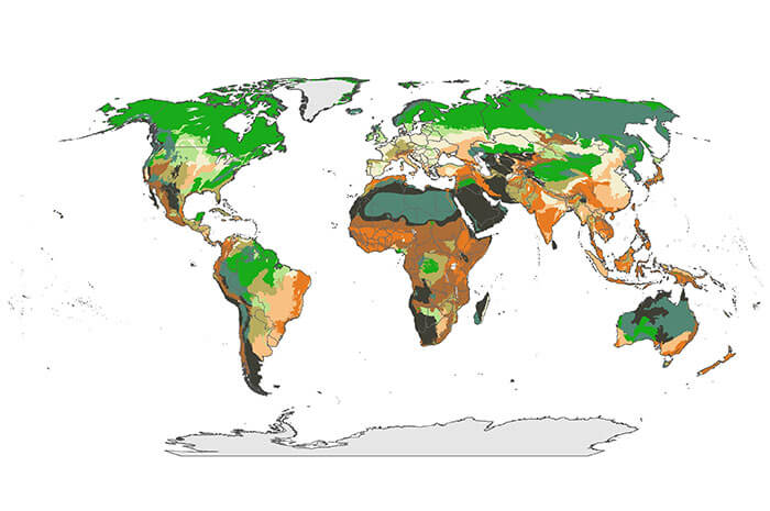 New World Map identifies areas most vulnerable to climate change