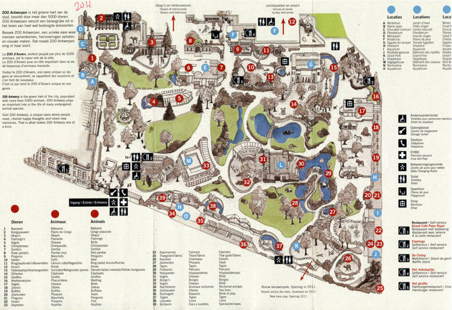 Antwerp Zoo map 2011