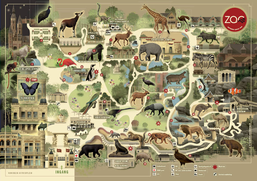 Antwerp Zoo map2014