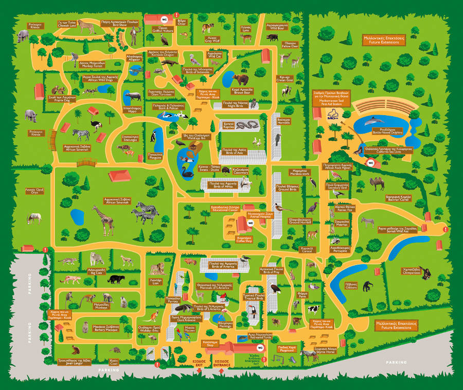 Athens Zoo map2014