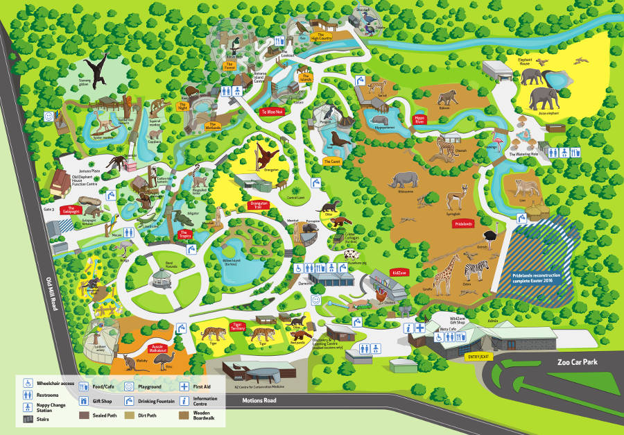 Auckland Zoo map 2016
