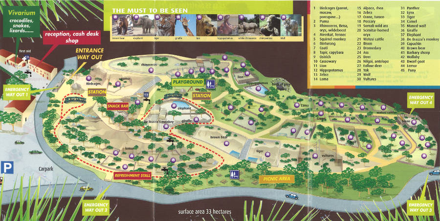 La Barben Zoo map 2014