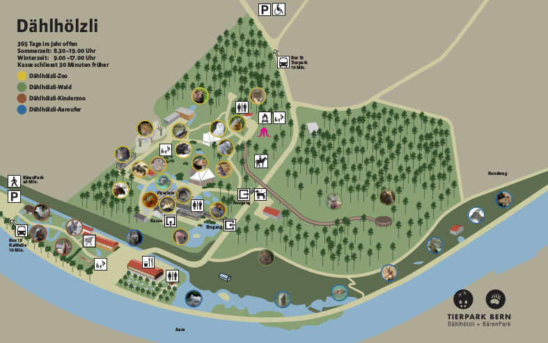 Bern Zoo map 2016