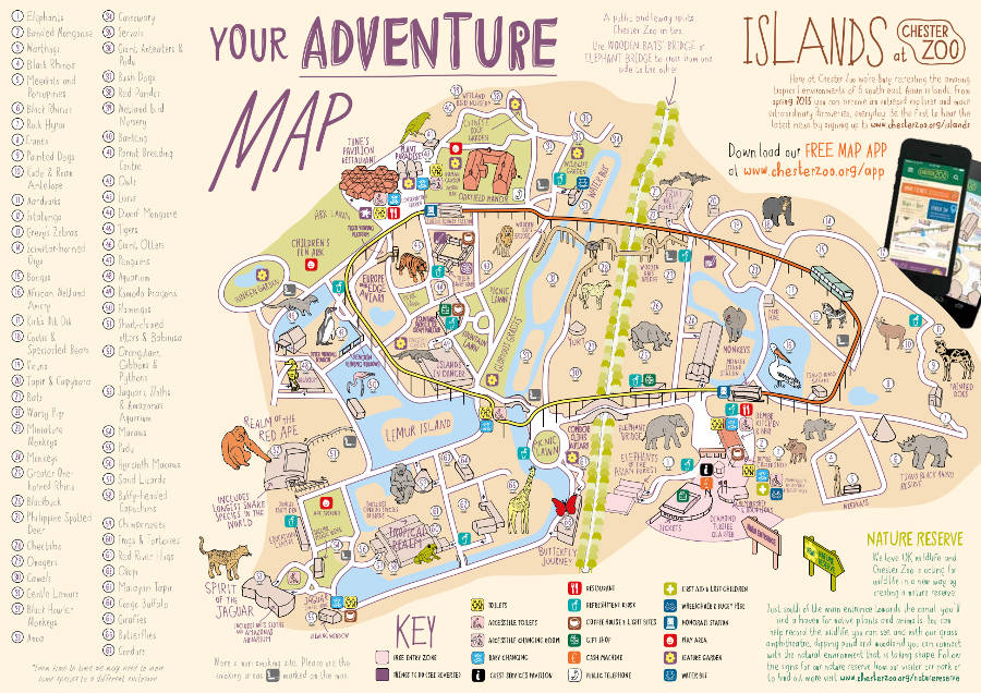 Chester Zoo map 2014