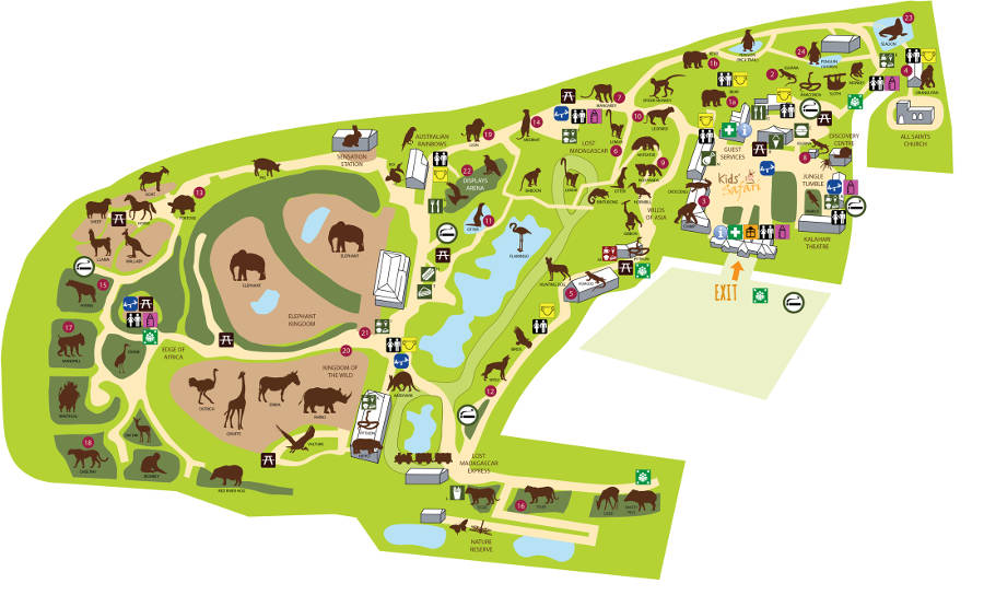 Colchester Zoo map 2014
