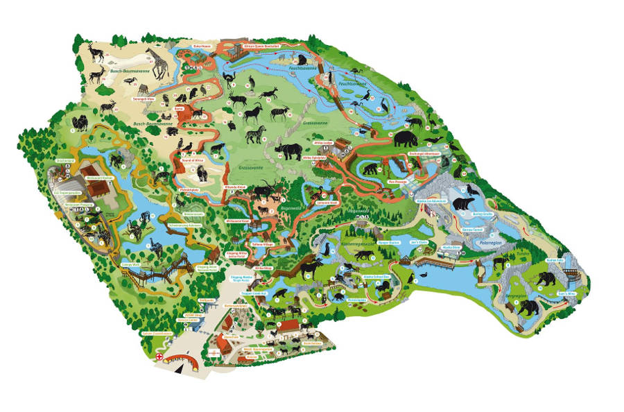 Gelsenkirchen Zoo map 2014