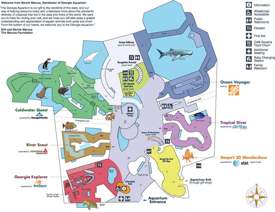 Georgia Aquarium Atlanta About Zoos
