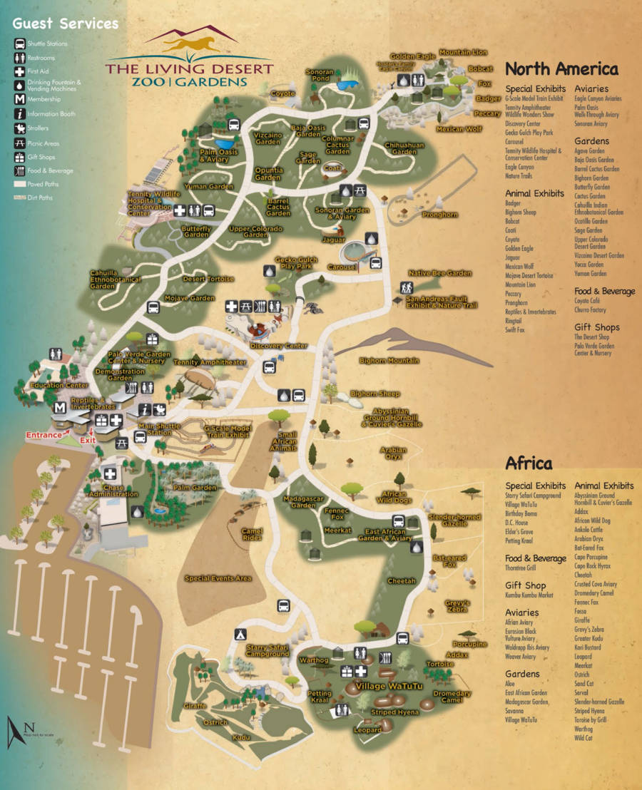 Living Desert Zoo map 2014