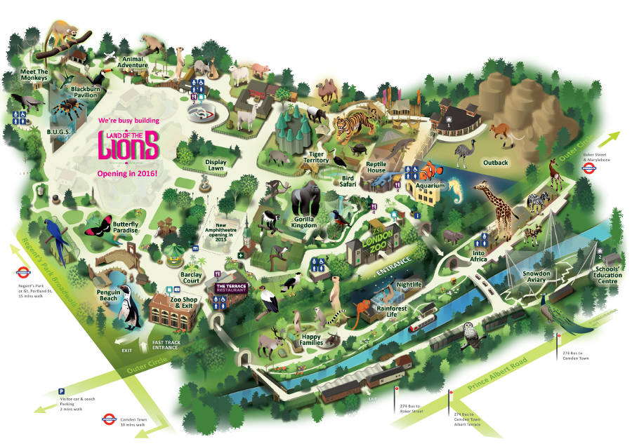 London Zoo map 2014