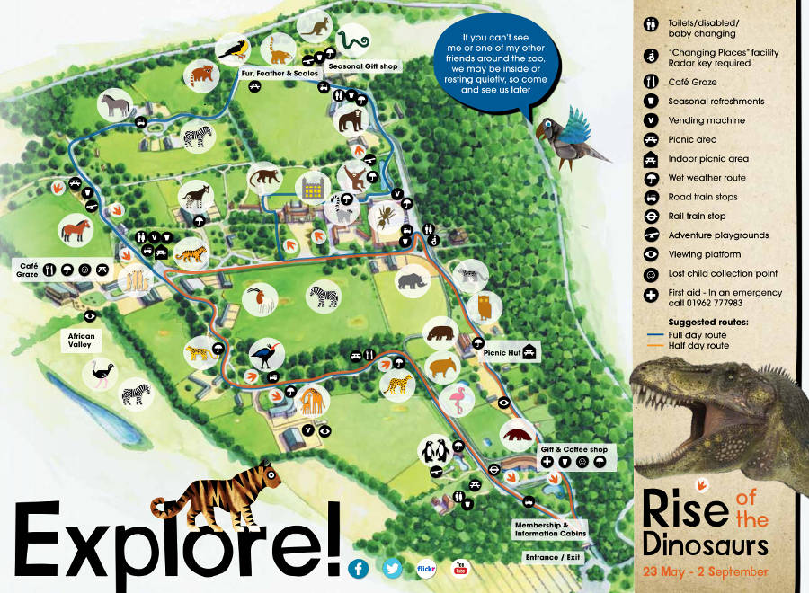 Marwell Wildlife map 2014