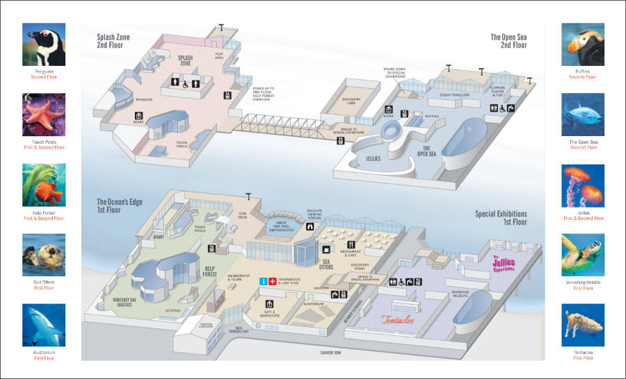 Monterey bay Aquarium map2014