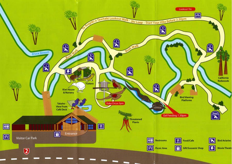 Mount Bruce National Wildlife Centre map 2016
