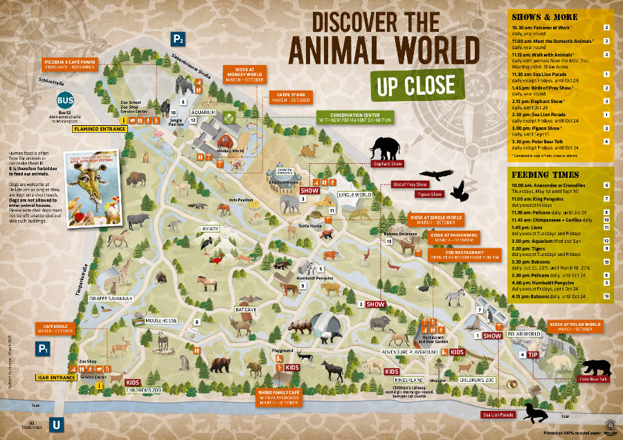 Munich Zoo map 2015