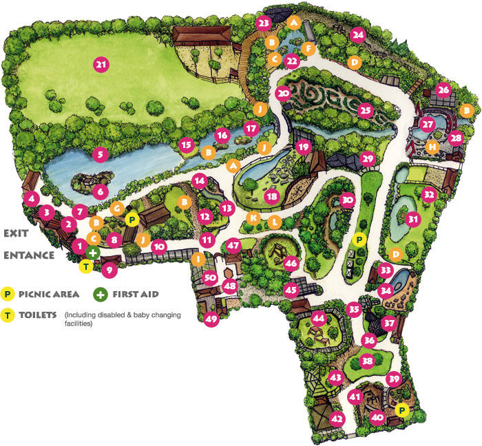 Newquay Zoo map 2014