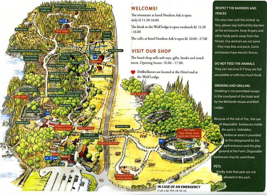 nordens ark karta Nordens Ark, Hunnebostrand | About Zoos nordens ark karta