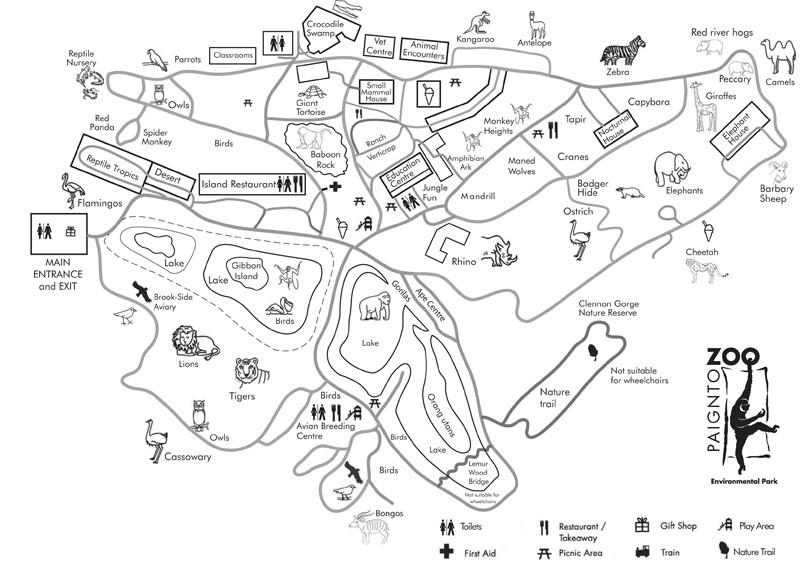 Paignton Zoo Map Paignton Zoo | About Zoos Paignton Zoo Map