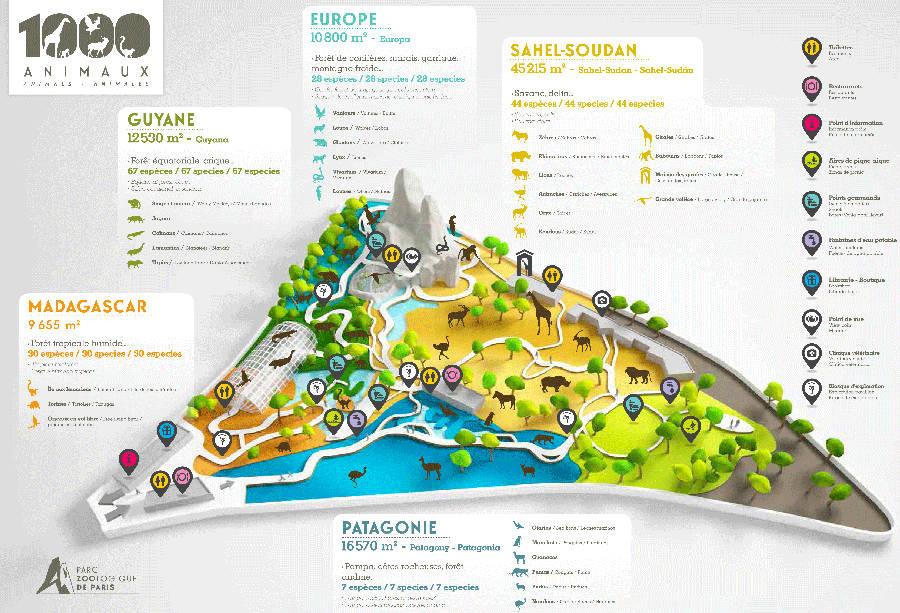 Map Of Zoos In France.Paris Zoo Parc Zoologique De Paris About Zoos