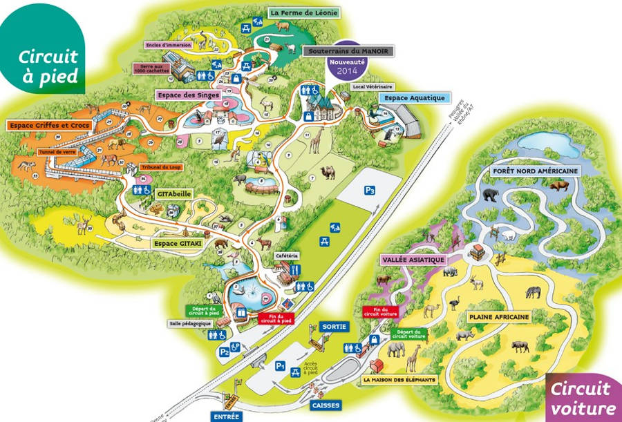 Peaugres Zoo map 2014