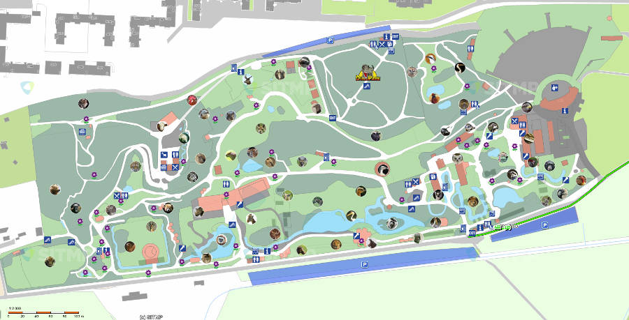 Plzen Zoo map 2014