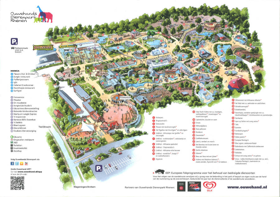 Rhenen Zoo map 2013