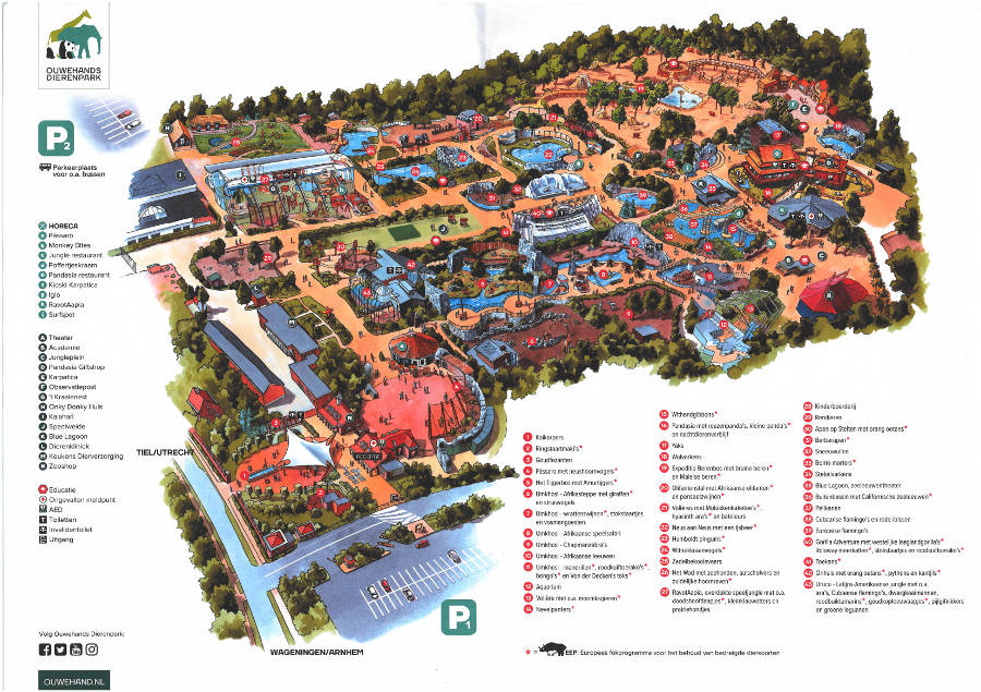 Rhenen Zoo map 2018