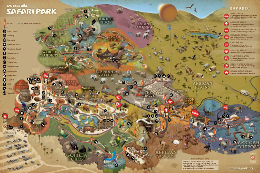 SDZ SafariPark map 2014