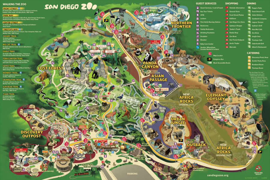 SanDiego Zoo map 2014