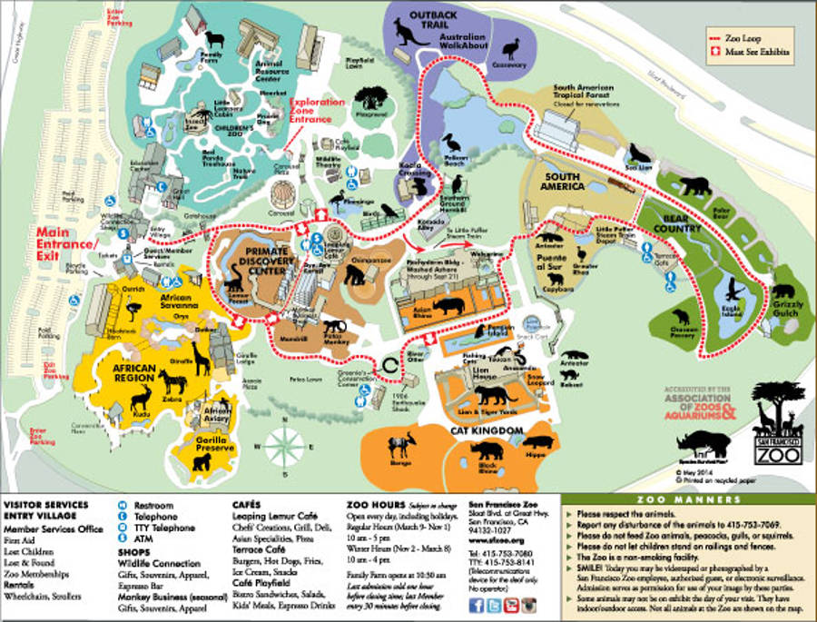 SanFrancisco Zoo map2014