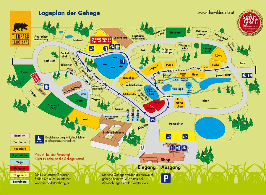 Stadt Haag Zoo map 2018