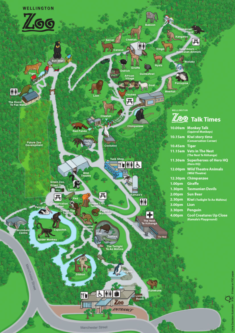 Wellington Zoo map2014
