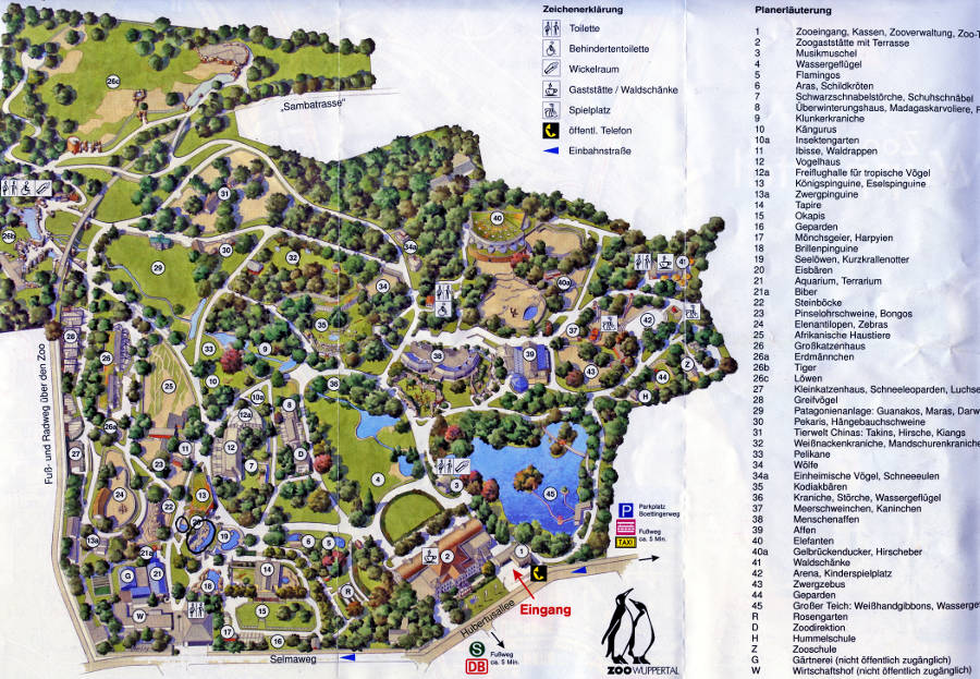 Wuppertal Zoo map 2013