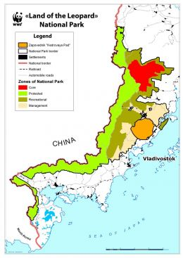 map land of the leopard national park