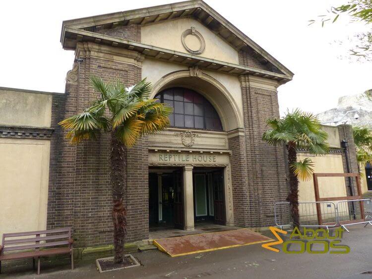 London Zoo Reptile House entrance