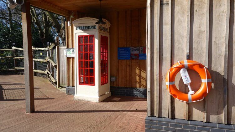 K3-type telephone box in London Zoo
