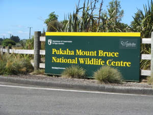 Pukaha Mount Bruce sign