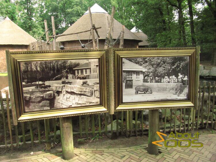 Panels with pictures of historic enclosures