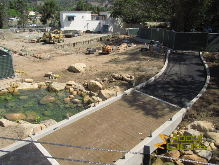 santa barbara zoo construction site