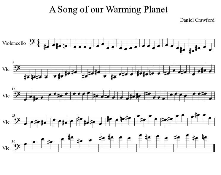 A Song of Our Warming Planet